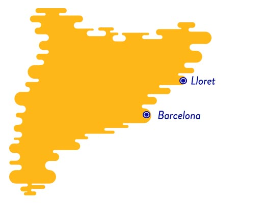 Lloret de Mar map