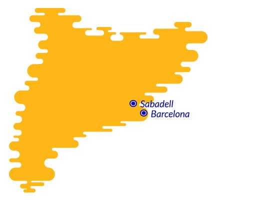 Sabadell map
